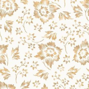 Gold Flowers / Blue Inspiration