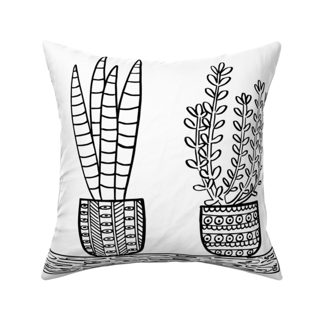 Catalan Throw Pillow featuring Pattern #101 - Prickly cacti and succulents  by irenesilvino