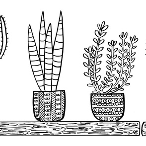 Pattern #101 - Prickly cacti and succulents