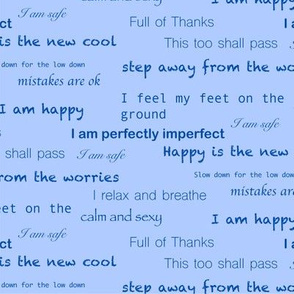 Relaxing Positive Affirmations, blue