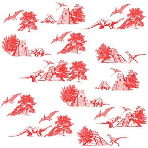 Dinosaur Toile de Jouy Pattern