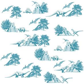 Dinosaur Toile Fabric Pattern