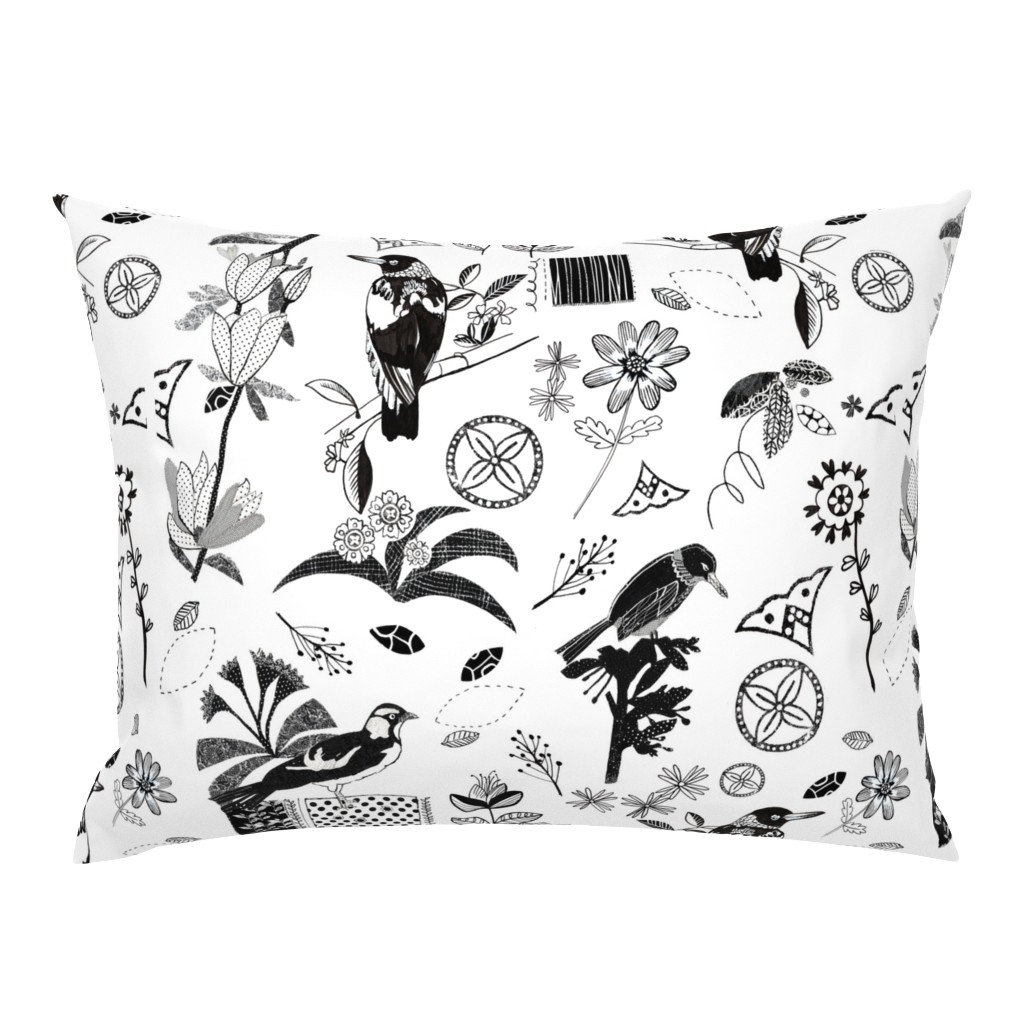 Campine Pillow Sham featuring Visitors To My Garden by daniela_glassop