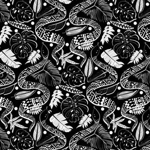 Tribal Black Mambas - Black (Large version)
