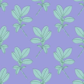 Foliage (Lavender) / botanical plant nature floral wedding home decor baby nursery garden