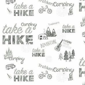 Take a Hike Black and White