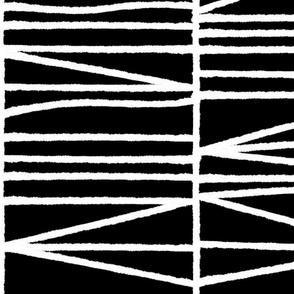 Vintage crosshatch - jumbo white on black