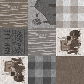 Custom Old Farm Quilt - no animals - ROTATED