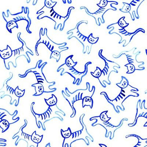 Watercolour kittens