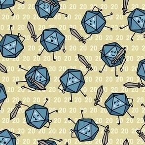 The Mighty Fighting d20s in Blue & Green