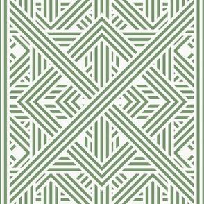 Green Aztec Ornament / Jungle Park