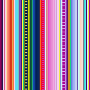 Mexican Serape Inspired Stripe (Larger Scale)