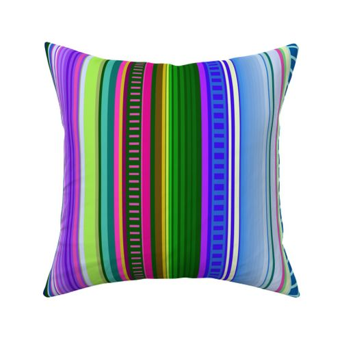 mexican serape throw pillow black grey turquoise tan handmade in usa