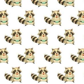 Raccoon with Cupcake