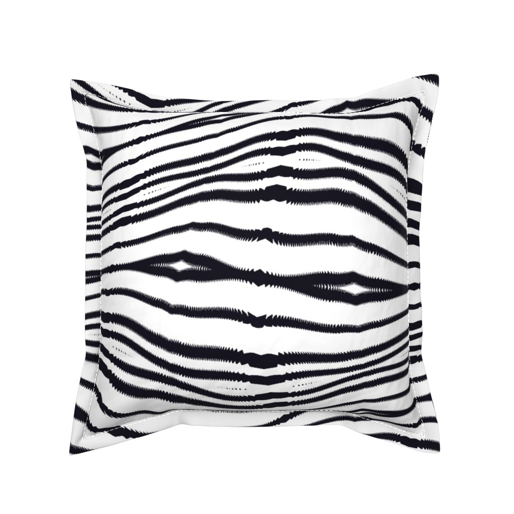 Serama Throw Pillow featuring Zebrures by my_muse