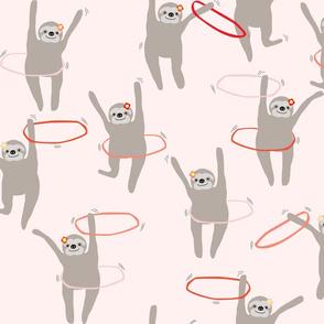 hula hooping sloths