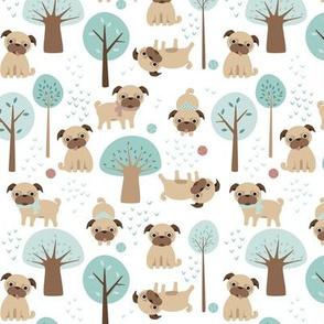 pugs in the park - small