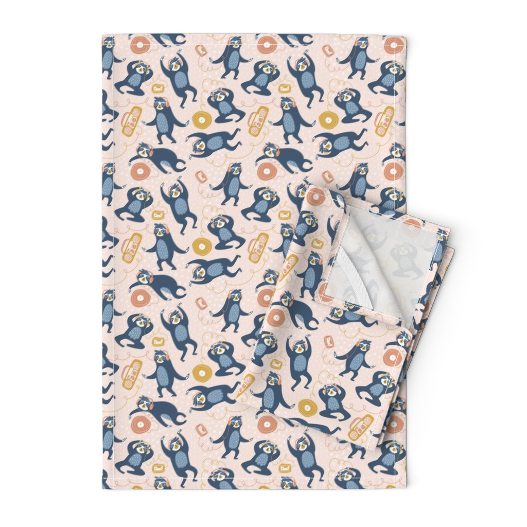 Orpington Tea Towels featuring Audiophiles by alenkakarabanova