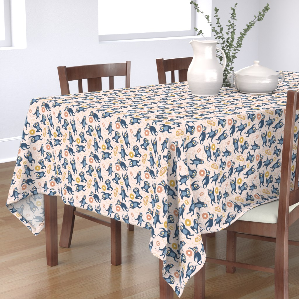 Bantam Rectangular Tablecloth featuring Audiophiles by alenkakarabanova