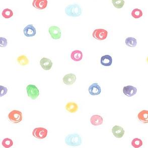 Pastel watercolor confetti