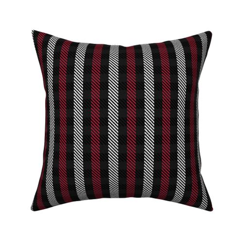Pleasant Colorful Fabrics Digitally Printed By Spoonflower Red Black And White Woven Look Stripe Theyellowbook Wood Chair Design Ideas Theyellowbookinfo