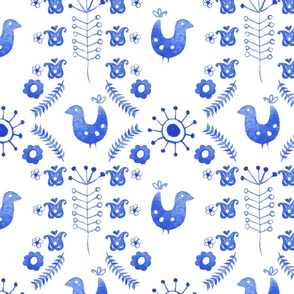 scandi blue bird