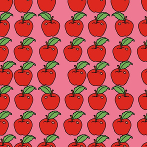 apples on pink