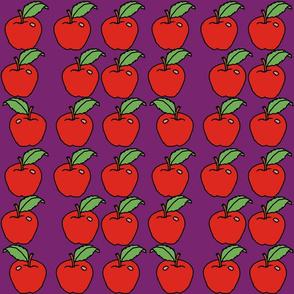 apples on purple