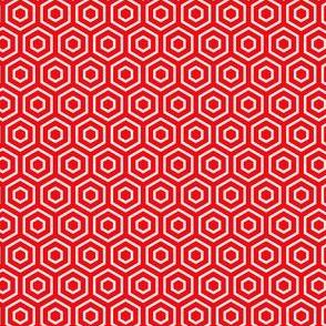 Geometric Pattern: Hexagon Ring: Red