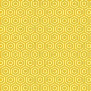 Geometric Pattern: Hexagon Ring: Yellow