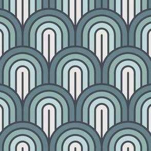 Geometric Pattern: Art Deco Arch: Sea Foam