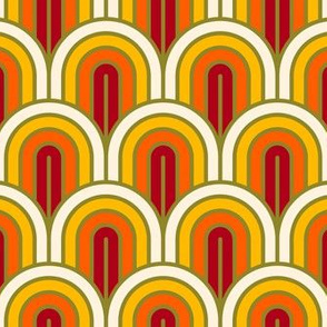 Geometric Pattern: Art Deco Arch: Sunset