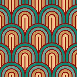 Geometric Pattern: Art Deco Arch: Turquoise