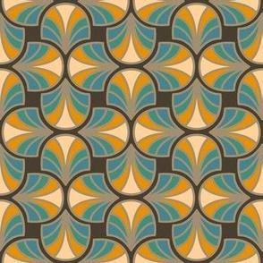 Geometric Pattern: Art Deco: Curve: Lily