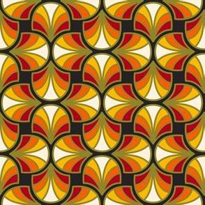 Geometric Pattern: Art Deco: Curve: Sunset