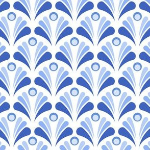 Geometric Pattern: Art Deco: Peacock: Blue