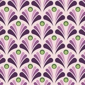 Geometric Pattern: Art Deco: Peacock: Violet