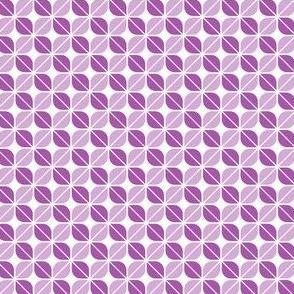 Geometric Pattern: Leaf: Purple/White