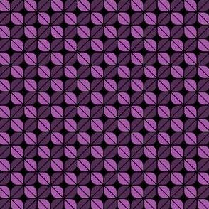 Geometric Pattern: Leaf: Purple/Black