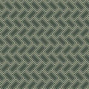 Geometric Pattern: Falling Rectangle: Forest