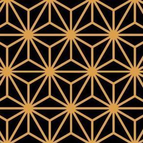 Geometric Pattern: Art Deco Star: Black/Gold