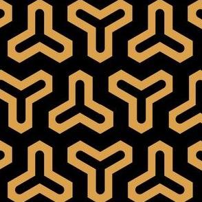 Geometric Pattern: Y: Black/Gold