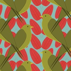 Swallows and Leaves Minty