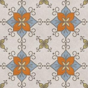 linen canvas flower