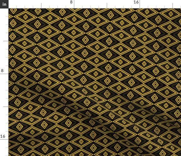 Fabric By The Yard Golden Eye Art Deco Inspired Modern Art Deco