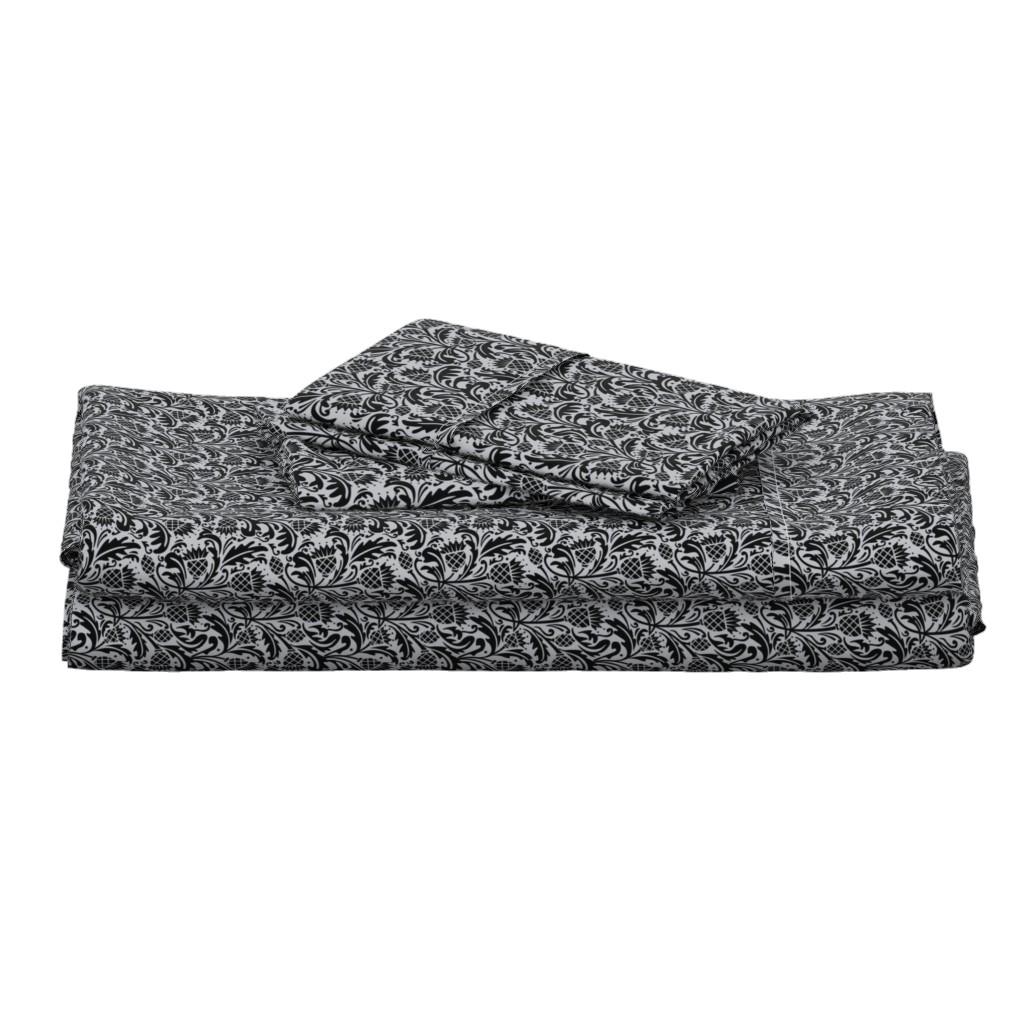 Langshan Full Bed Set featuring thistle black by cindylindgren
