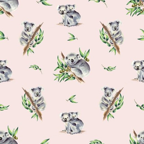Aussie Koala Peach Pink