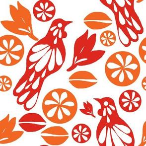 retro tui pattern white
