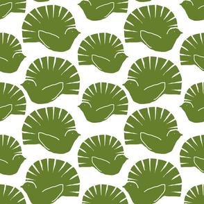 woodblock fantails green