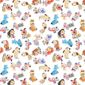 Mousehaus Puppies Repeat V2 on white
